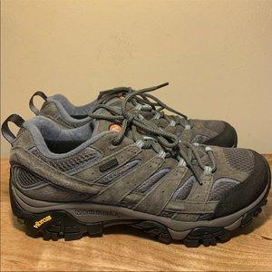 Merrell Womens Moab 2 Waterproof Hiking Shoes Gray